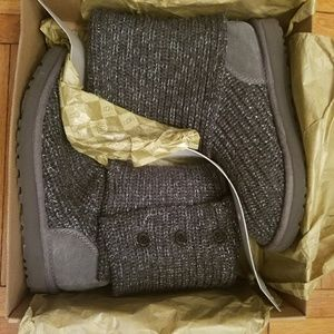 Uggs Charcoal Sweater Boot - Size 8